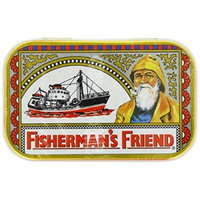 Fisherman's Friend Tin with 40g (1.4oz) Original Extra Strong Lozenges - the Classic Sore Throat Sweet in a Reusable Tin Box