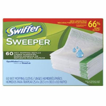 Swiffer Sweeper Wet Mopping Cloth Refills Open Window Fresh Scent, 60 Count
