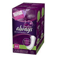 Always Xtra Protection Daily Liners Odor-Lock Double Pack Long Liners