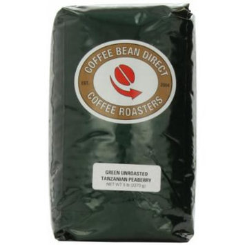Green Unroasted Tanzanian Pea berry, Whole Bean Coffee, 5-Pound Bag