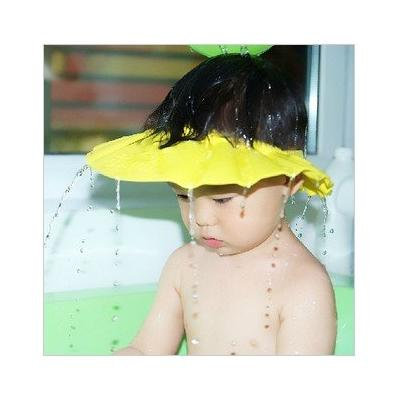 Soft Safe Baby Kid Children Shampoo Bath protector Shower Cap Hat Wash Hair Shield(Yellow)