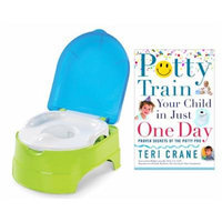 Summer Infant My Fun Potty with Potty Train Your Child in Just One Day Guide Book, Blue