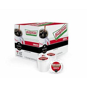 Krispy Kreme Smooth K-cups, Green Mountain Coffee Roasters Gourmet Single Cup Coffee, Box of 12 (Pack of 2)