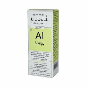New - Liddell Homeopathic Oral Allergy Spray - 1 fl oz