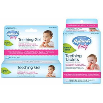 Hyland's 135 Count Homeopathic Teething Tablets & Teething Gel