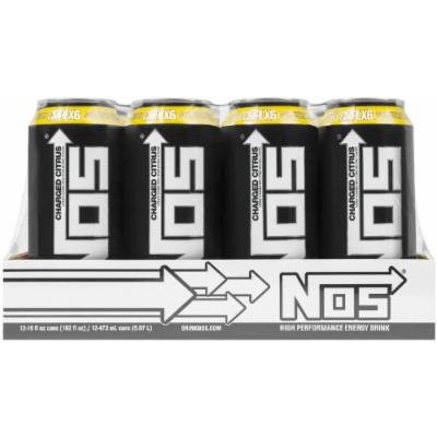 NOS Charged Citrus, 12 ct, 16 FL OZ can energy drink