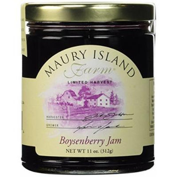 Gourmet Boysenberry Jam, 11 oz Jar - All Natural - by Maury Island Farms (Pack of 4)