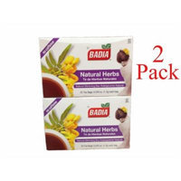 Badia Natural Herbs TEA (2 Pack) 50 Bags