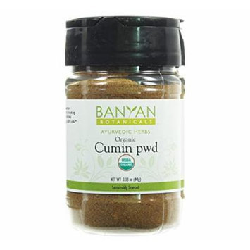 Banyan Botanicals Cumin Powder - Certified Organic, Spice Jar - Cuminum cyminum - Common cooking spice that promotes healthy digestion