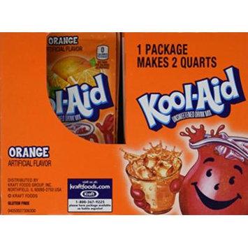 Kool-Aid Orange Unsweetened Soft Drink Mix, 0.15 Oz (Bonus Pack of 50 Packets)