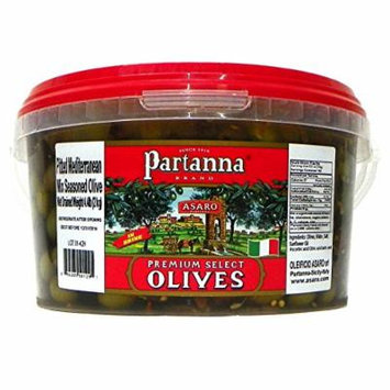 Partanna Partanna Premium Select Mediterranean Mix Seasoned Pitted Olives, 4.4 Pound