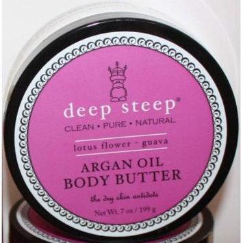 Deep Steep Argan Oil Body Butter, Lotus Flower Guava, 7 Oz.