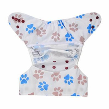 1 Cloth Diaper Cover Snap Adjustable Waterproof Nappy Cover Double Gussets Paw