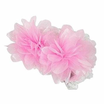 Generic 3 color Trendy Baby Girls Elastic Flower Headband HairBand