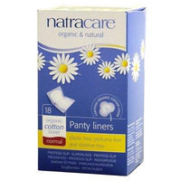 Natracare Panty Liner, Normal, Wrapped, 18 ct, Set of 8