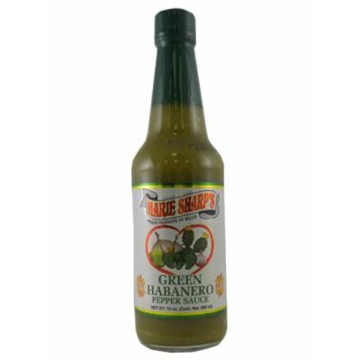 Marie Sharp's Green Habanero Hot Sauce with Prickly Pears 10 Oz. (Pack of 6)