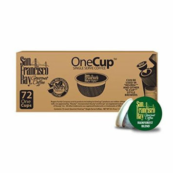 San Francisco Bay OneCup, Organic Rainforest Blend, 72 Single Serve Coffees