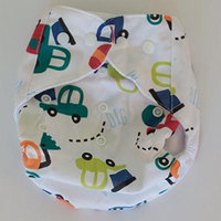 Adorable cloth pocket diaper, trucks print! one size. No insert!