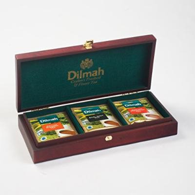 Dilmah, Luxury Wooden Presenter, Tea Chest, Founders Reserve 3 Slot (Chest Only)