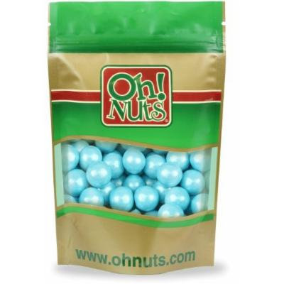 Shimmer Powder Blue Pearl 1 Inch Gumballs 2 Pound Bag - Oh! Nuts