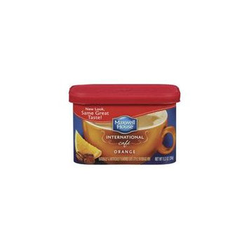 Maxwell House International Cafe Cafe-Style Orange Cafe Beverage Mix, 9.3 oz(Case of 2)