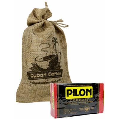 Pilon Gourmet Coffee 10 oz vacuum pack, burlap bag included.