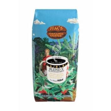 JIMS ORGANIC COFFEE COFFEE BLEND X WITCH BREW, 12 OZ