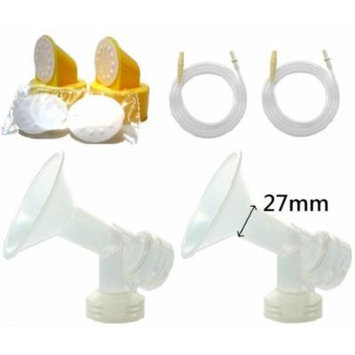 Breast Pump Kit (Breastshield Large, 27mm) for Medela Pump in Style Advanced Breastpump Sold Before July 2006. Include Replacement Tubing for Old Pump In Style Advanced, 2 One-piece Breastshields (Replace Medela Personalfit 27mm and Personalfit...