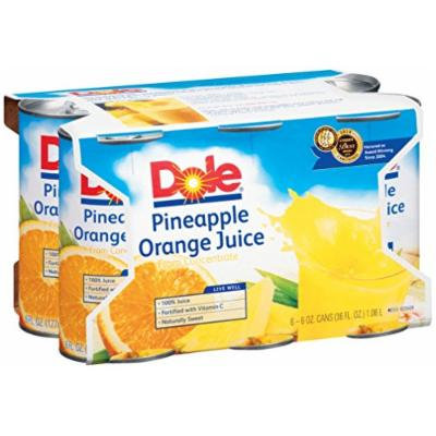 Dole Pineapple Orange Juice Blend, 6-Ounce Containers (Pack of 48)