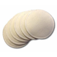 NuAngel Washable Nursing Cotton Pads, Natural, 6-Count