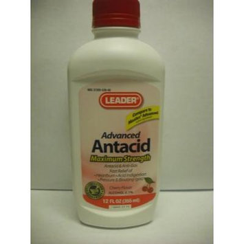Leader Antacid Max Strength Liquid Cherry 12 oz (4 Pack)