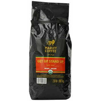Marley Coffee, Organic Whole Bean Coffee, Getup, Stand Up, 2 Pound
