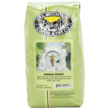 Vail Mountain Coffee & Tea Vienna Roast Whole Bean Coffee, 12-Ounce Bags (Pack of 3)