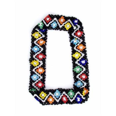 Sizzle City Custom Bling Rhinestone Bohemian Pattern Seed Bead Elastic Stretch Headbands (Native American Seed Bead Headband Style Q)