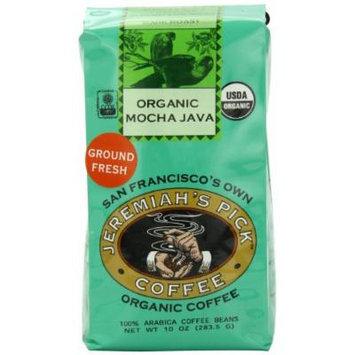 Jeremiah's Pick Coffee Organic Mocha Java Ground Coffee, 10-Ounce Bags (Pack of 3)