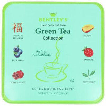 Bentley's Royal Assorted Green Tea Collection, 120 Count, Tins (Pack of 3)