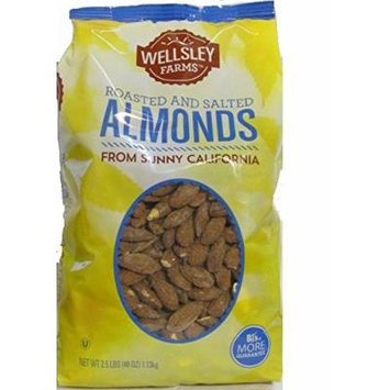 Wellsley Farms Roasted And Salted Almonds net wt 40oz