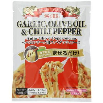 S&B Garlic, Olive Oil & Chili Pepper Peperoncino Spaghetti Sauce, 1.57-Ounce