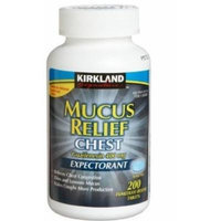 Kirkland Signature Mucus Relief Chest Guaifenesin 400 mg Expectorant - 200 Immediate-Release Tablets (Pack of 3)