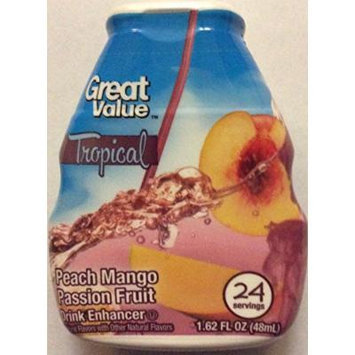 Great Value Tropical Peach Mango Passion Fruit Drink Enhancer, 1.62 Fl Oz (Pack of 3)