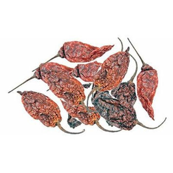 Dried Whole Ghost Chile / Chili Pepper (Bhut Jolokia)1 Oz.