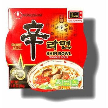 Nongshim Bowl Instant Noodle Soup Assorted Flavors (Shin Bowl)