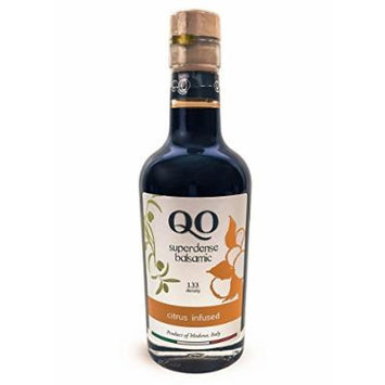 QO Gourmet Balsamic Vinegar , High Density CITRUS Infused , 250ml/8.45 fl.oz., All Natural , Product of Modena