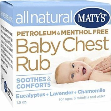 Matys All Natural Baby Chest Rub, 1.5 Ounce (2 Pack)
