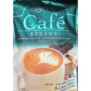 15.2oz Gino Cafe 3 in 1 Instant Coffee Mix, 18 Sachets, Pack of 1