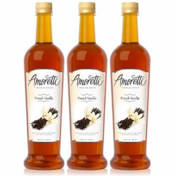 Amoretti Premium French Vanilla Syrup 750ml 3 Pack