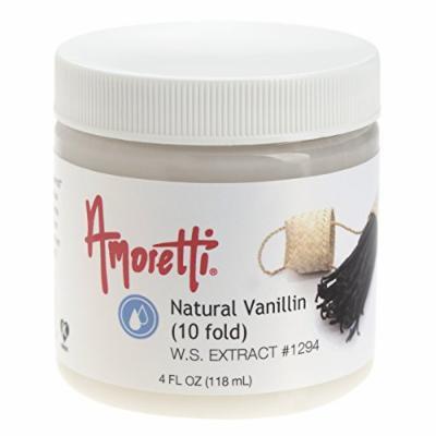 Amoretti Natural Vanillin Extract (10 Fold), 4 Fluid Ounce