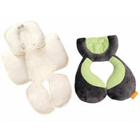 Summer Infant Snuzzler Infant Support for Car Seats and Strollers, Ivory with Koosh'N Infant Neck and Head Support