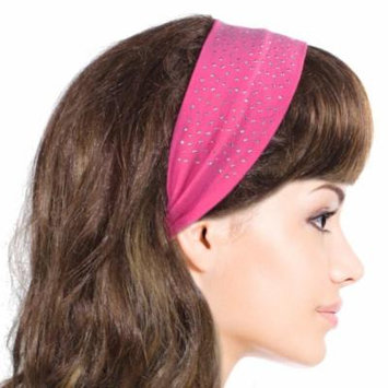 Simple Sparkling Rhinestone Stretch Headband - Pink (1 Pc)