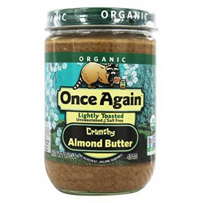 Once Again - Organic Raw Almond Butter Lightly Toasted - 16 oz.